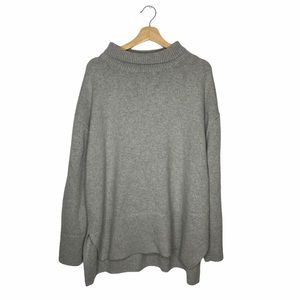H&M Gray Oversized Turtleneck Sweater
